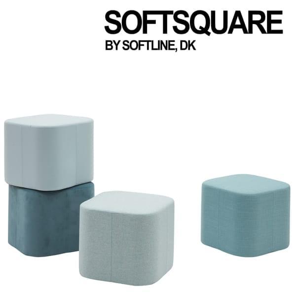 SOFT SQUARE, ένα διαχρονικό pouf με ένα πρόσθετο δίσκο.