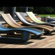 SOL ξαπλώστρα ή UM τραπέζι πολλαπλών χρήσεων, κατασκευασμένα από πριμοδότηση UV -cured ρητίνη - διακόσμηση και ο σχεδιασμός