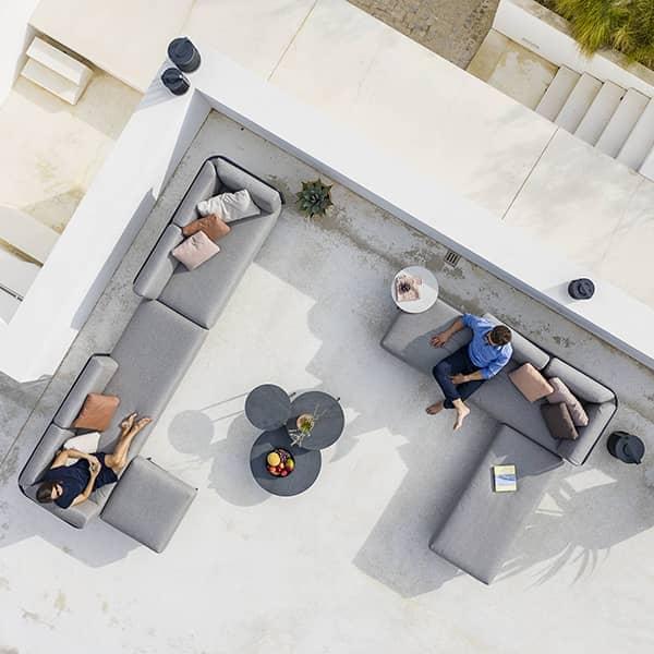 Salon de jardin BAZA à composer, sofa modulable haut de gamme