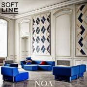 NOA, a generous modular sofa, graphic and very comfortable.