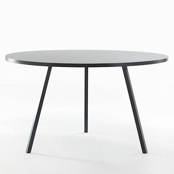 The round LOOP dining table, or high table, is beautiful, easy to live and affordable