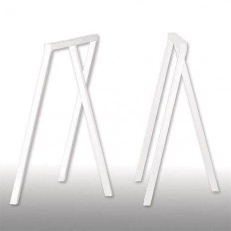 LOOP stå frame, HAY : smuk, let at leve og overkommelige - 2 højder og 2 bredder - deco og design - Dimensioner bukke LOOP: 100 x 37 x 72 cm (B x D x H) - 2 enheder - Farver bukke LOOP: Loop Hvid
