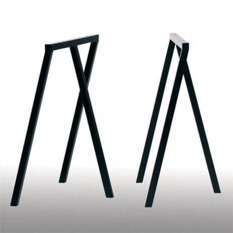 LOOP stå frame, HAY : smuk, let at leve og overkommelige - 2 højder og 2 bredder - deco og design - Dimensioner bukke LOOP: 100 x 37 x 72 cm (B x D x H) - 2 enheder - Farver bukke LOOP: Loop Black
