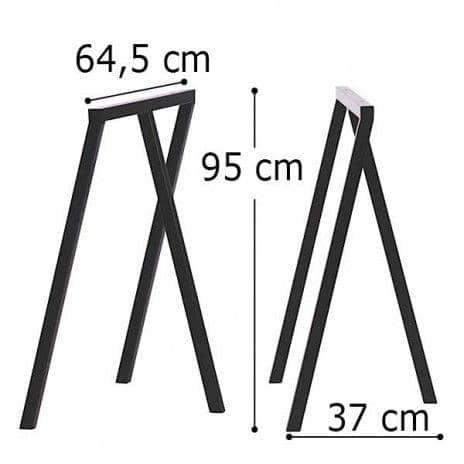LOOP stå frame, HAY : smuk, let at leve og overkommelige - 2 højder og 2 bredder - deco og design - Dimensioner bukke LOOP: 64,5 x 37 x 95 cm (B x D x H) - 2 enheder - Farver bukke LOOP: Loop Hvid