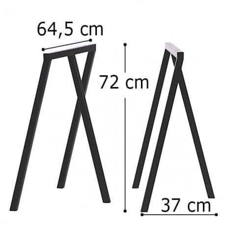 LOOP stå frame, HAY : smuk, let at leve og overkommelige - 2 højder og 2 bredder - deco og design - Dimensioner bukke LOOP: 64,5 x 37 x 72 cm (B x D x H) - 2 enheder - Farver bukke LOOP: Loop Hvid