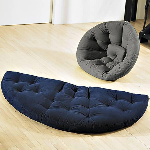 NEST, Lounge Chair den Tag, Futon in der Nacht: NEST ist gemütlich, praktisch und so bequem