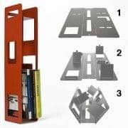 The BENDER Shelf is produced starting from a single folded steel piece