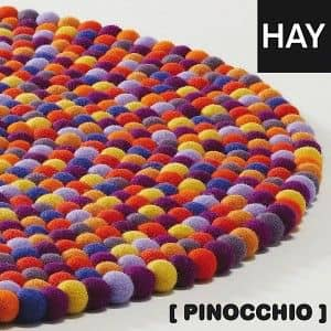 PINOCCHIO Rug by HAY - the color and the comfort of a pure wool - deco and design - 1-HAY Pinocchio: Confetti Multicolour - Diameter: 90 cm