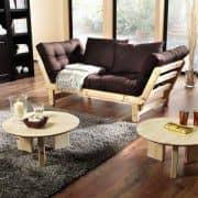 BEAT é um sofá-cama de dois lugares que pode ser transformado em cama ou chaise longue, um ou outro lado do sofá - deco e design
