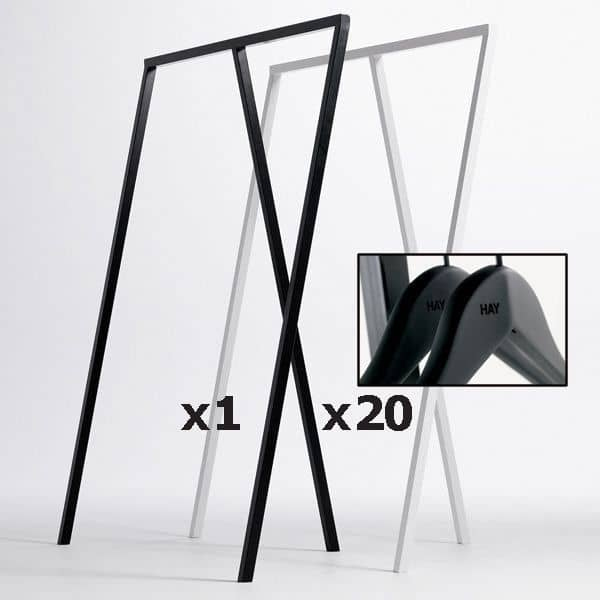SET : 1 LOOP Stand Wardrobe + 20 Soft Coat Hangers: design nórdico ao seu melhor preço