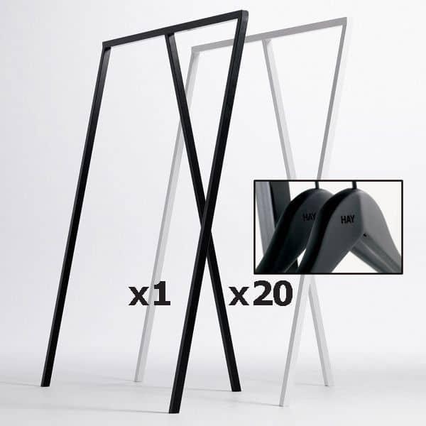 SET : 1 LOOP לעמוד ארון + 20 קולבים קול רך: עיצוב נורדי במחיר הטוב ביותר שלה