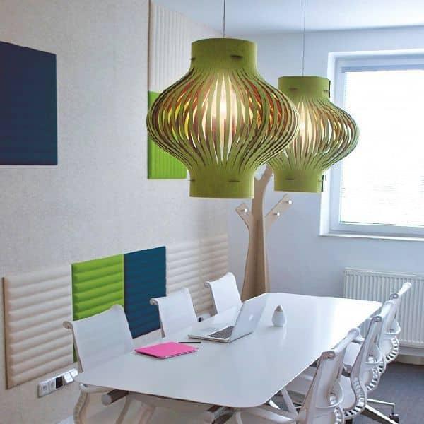 BUZZILIGHT, a lâmpada pendurada suave e generoso! Acústica, eco, deco e design