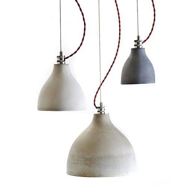 HEAVY LIGHT COLLECTION - verserende lamper, hånd-støbt beton: ren, deco og design, DECODE