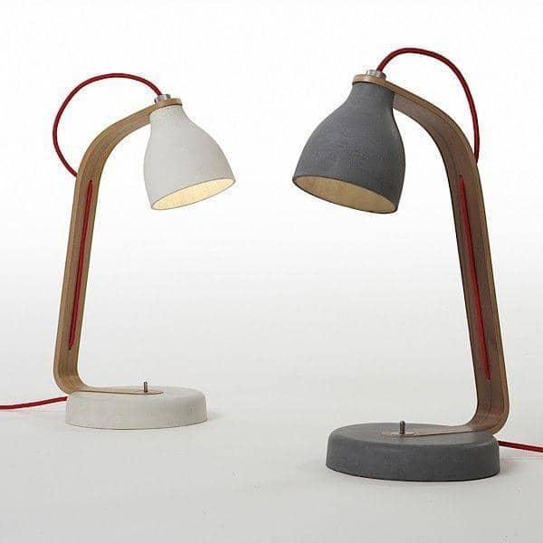 HEAVY DESK LIGHT - Handbeton: rein, Deko und Design, DECODE