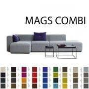 Divani MAGS, combinazioni di moduli, tessuti e pelli, HAY