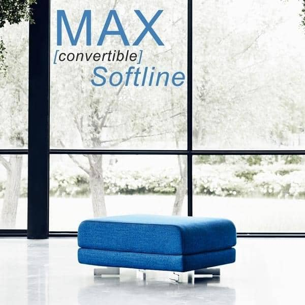 MAX is a functional design pouf and extra-bed, SOFTLINE