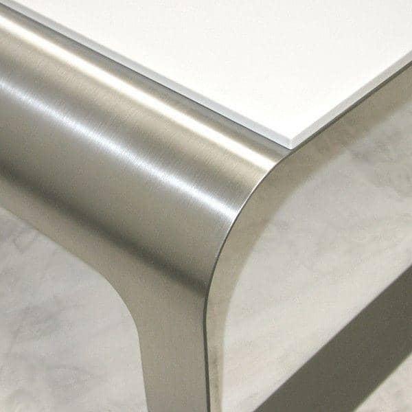 Table Basse Acier Brosse Design ~   Table Basse STAR TREK Acier B?ton Ou Inox Corian?  D?co Et Design