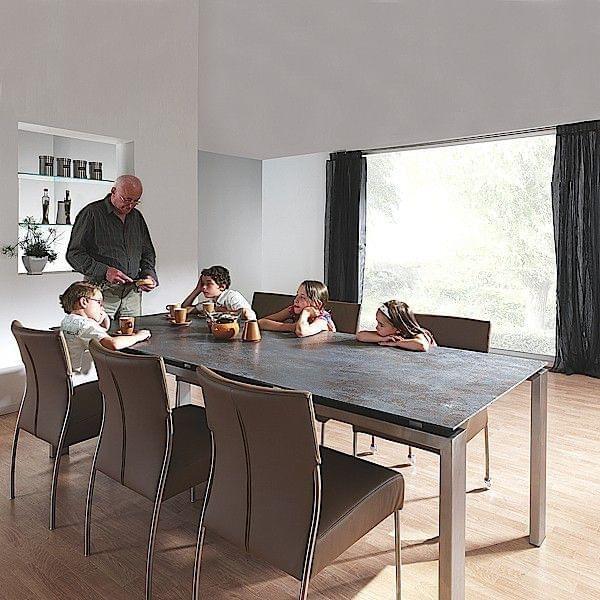Wings mesa de comedor, bandeja en cerámica, estructura de aluminio ...