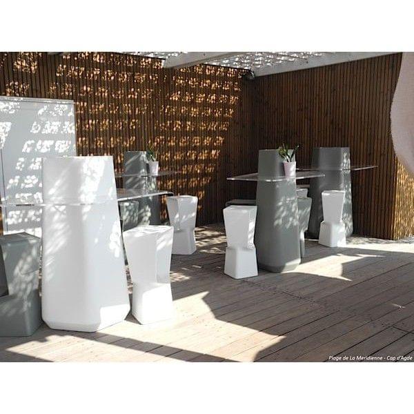 Garden party es una mesa alta de comedor interior y exterior ...