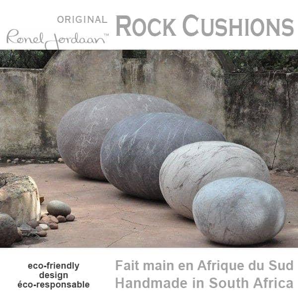 ROCK CUSHIONS - Merino Lã - feitas à mão, na África do Sul - eco-friendly - deco e design
