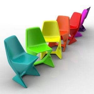 ISO CHAIR, elegant and stackable - ecofriendly, deco and design - QEP-Iso: Yellow