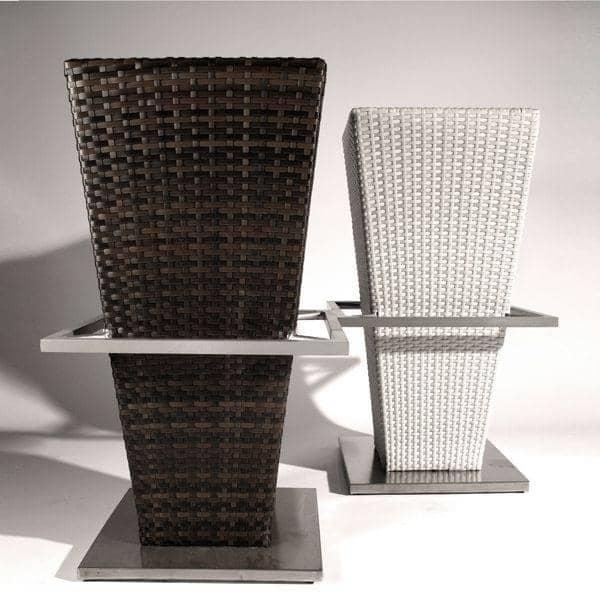 Ensemble table haute et tabourets compact hi structure - Table haute resine tressee ...