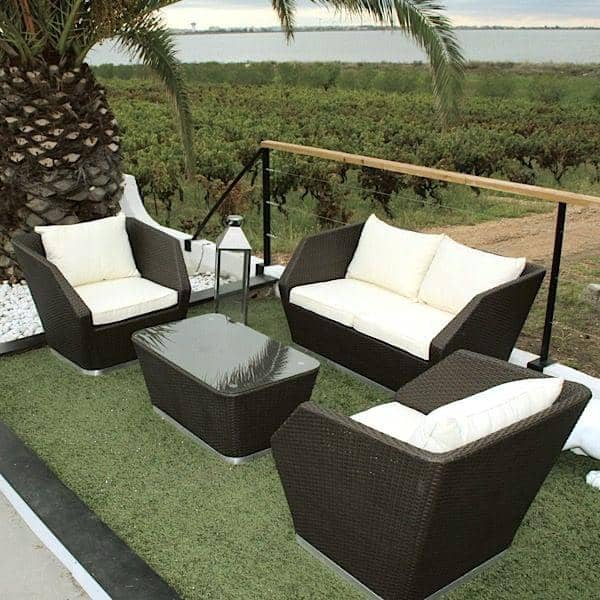 salon de jardin intimity structure aluminium r sine tress e trait e anti uv. Black Bedroom Furniture Sets. Home Design Ideas
