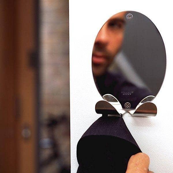 BOO clothes hanger is also a mirror