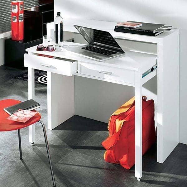 CONSOLE DESK - deco comodo, e design - bianco o rovere, da Leonhard Pfeifer puro