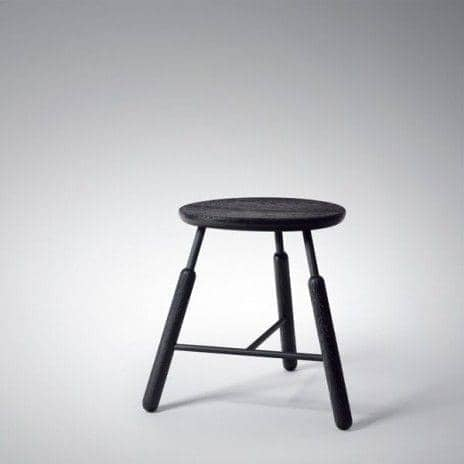 RAFT dining table and seats, by Norm Architects - like maritime objects, deco and design, AND TRADITION - RAFT tradition: Stool, black, 460 mm (height)