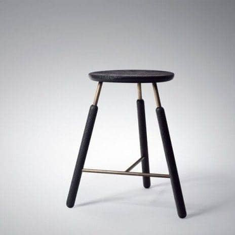 RAFT dining table and seats, by Norm Architects - like maritime objects, deco and design, AND TRADITION - RAFT tradition: Bar Stool, black, 700 mm (height)