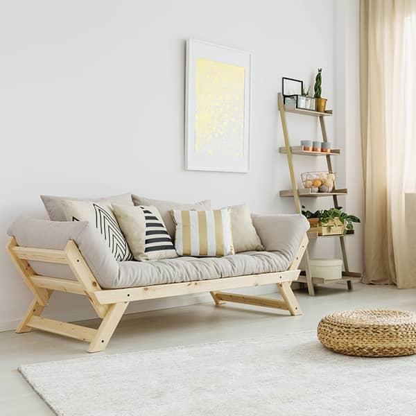 ALULA, en komfortabel sofa, sjeselong, konvertibel i ekstra seng - inkludert futon og 2 puter