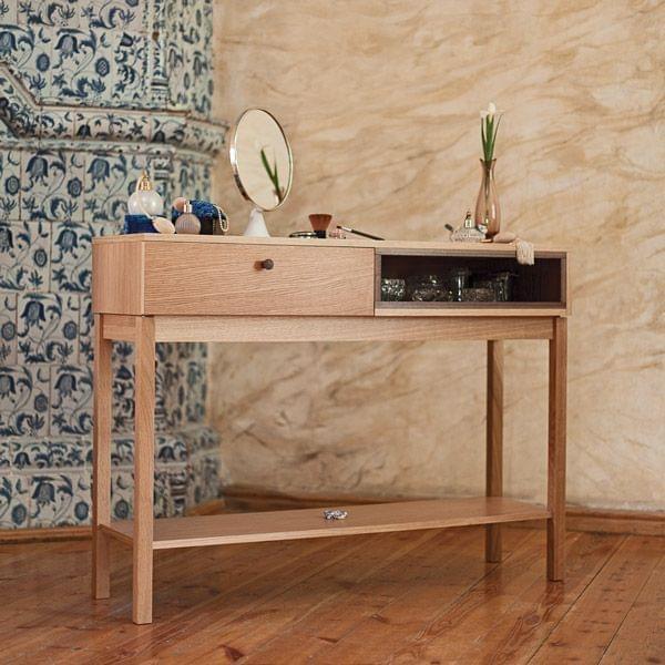 la console kensington ch ne massif et d tails en noyer d co et design. Black Bedroom Furniture Sets. Home Design Ideas