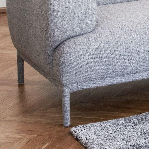 bjorn sofa  hay  a light sofa  with rounded shapes