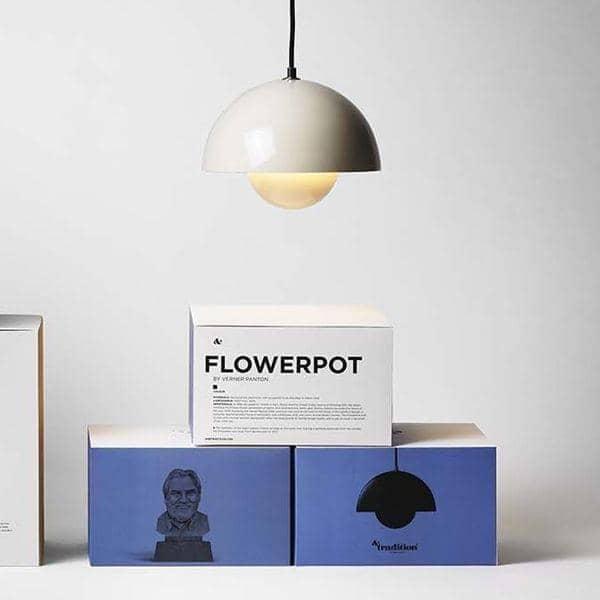FLOWERPOTの照明ヴェルナー·パントンによってデザインコレクション:時代を超越し、デコand北欧デザインさAND TRADITION
