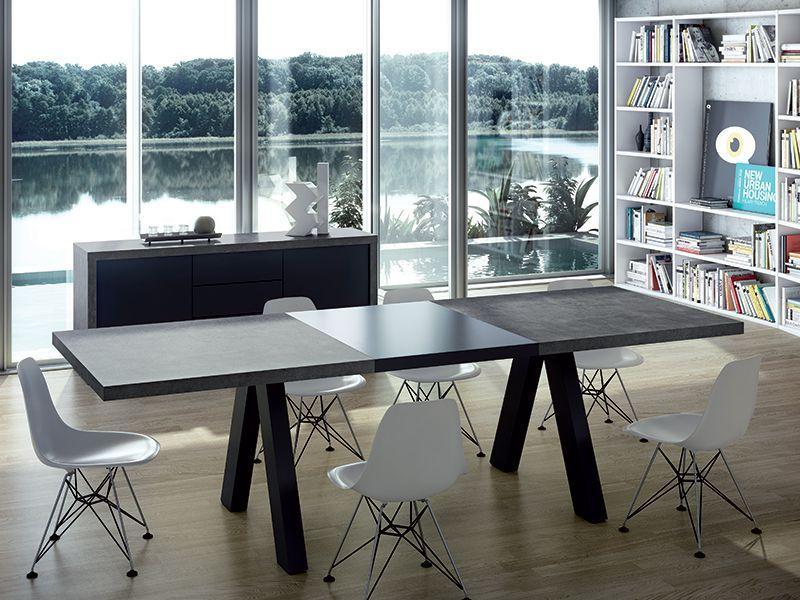 Apex Table aspect béton - rallonge