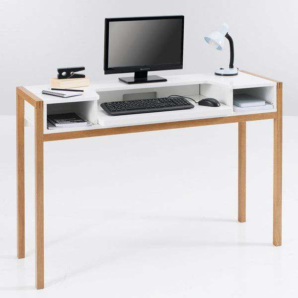 FARRINGDON LAPTOP DESK - made with solid oak and painted wood - FSC - an excellent quality-price ratio