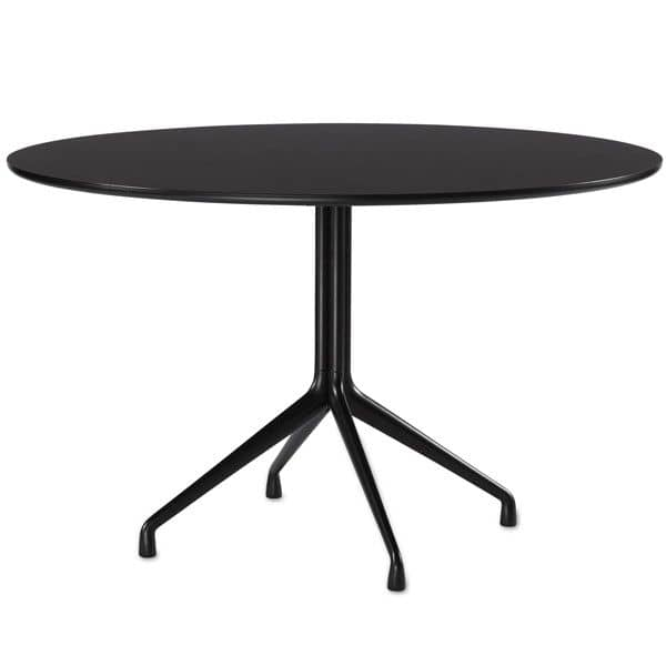 AAT20 round dining table, plywood, aluminum legs