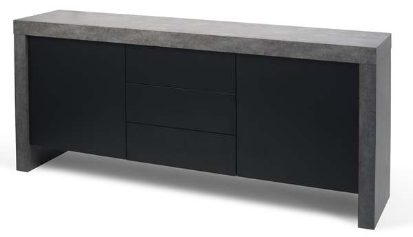KOBE, Sideboard contemporary, with an impressive storage capacity. also available in concrete aspect