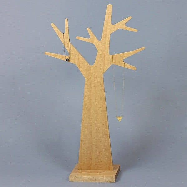 L'ARBRE A BIJOUX, jewellery tree, beech plywood and solid beech, eco-design