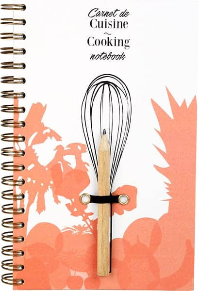 Cookbook, gardening notebook, and DIY notebook, eco-responsible design