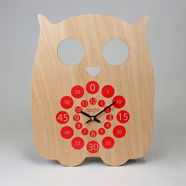 HIBOO, educational clock, beech plywood, eco-design