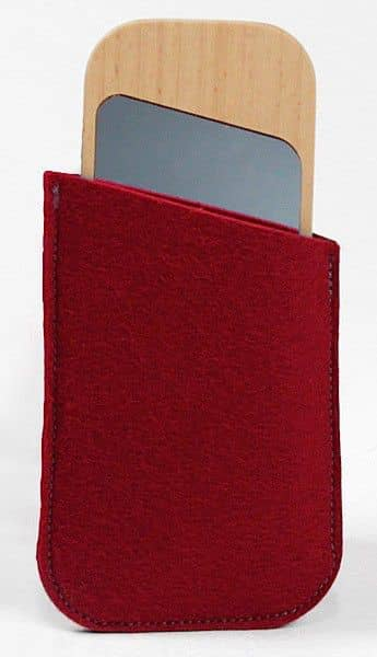CLIN D'OEIL, pocket mirror, solid beech, glass and sheep wool, eco-design