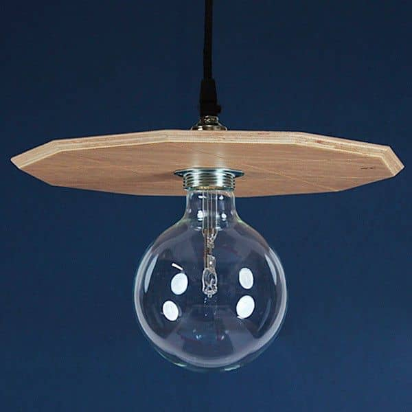 LA SUSPENSION, pendant lighting, delivered complete with halogen bulb and wiring, MDF and oak veneer, eco-design