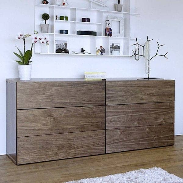 AURORA, chest 6 drawers, generous and design, available in different finishes