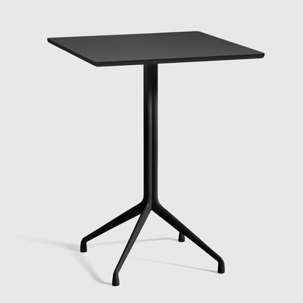 AAT15 squared dining table, plywood, aluminum legs