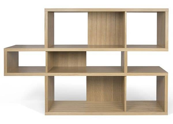 LONDON Shelves system, is spacious and contemporary, three dimensions, several finishing options, reversible system