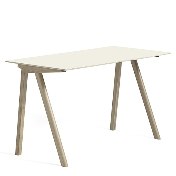 The COPENHAGUE desk CPH90, made in solid wood and plywood