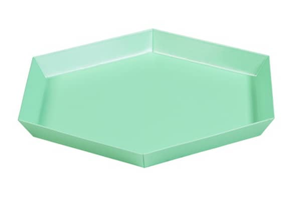 KALEIDO, lacquered steel trays, HAY, available in five clever geometric shapes for multiple uses