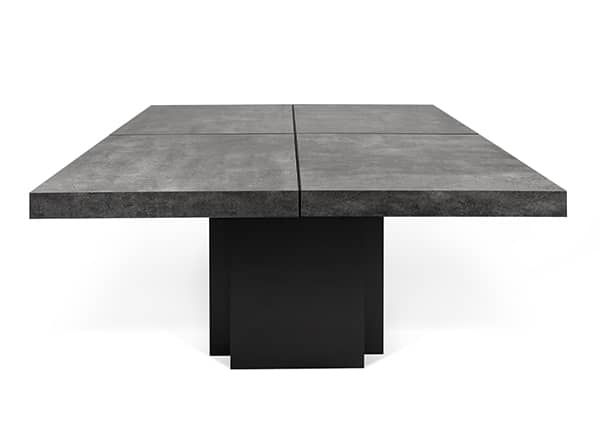 DUSK, square dining table, 130 or 150 cm, almost a sculpture! - designed by DÉLIO VICENTE